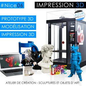 Impression 3D Nice en ligne Azur Media Nice AzurMedia.fr